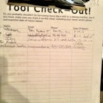 Tool Check-Out Sheet